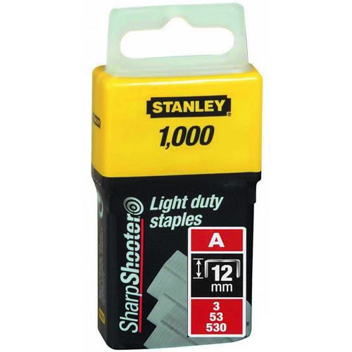 Pachet 1000 capse tapiterie tip A 12mm Stanley 1-TRA208T