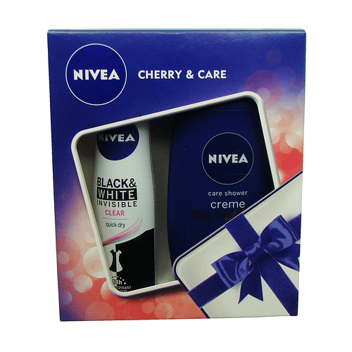 Set cadou Nivea Cherry & Care, Gel de dus 250ml + Deodorant Spray 150 ml